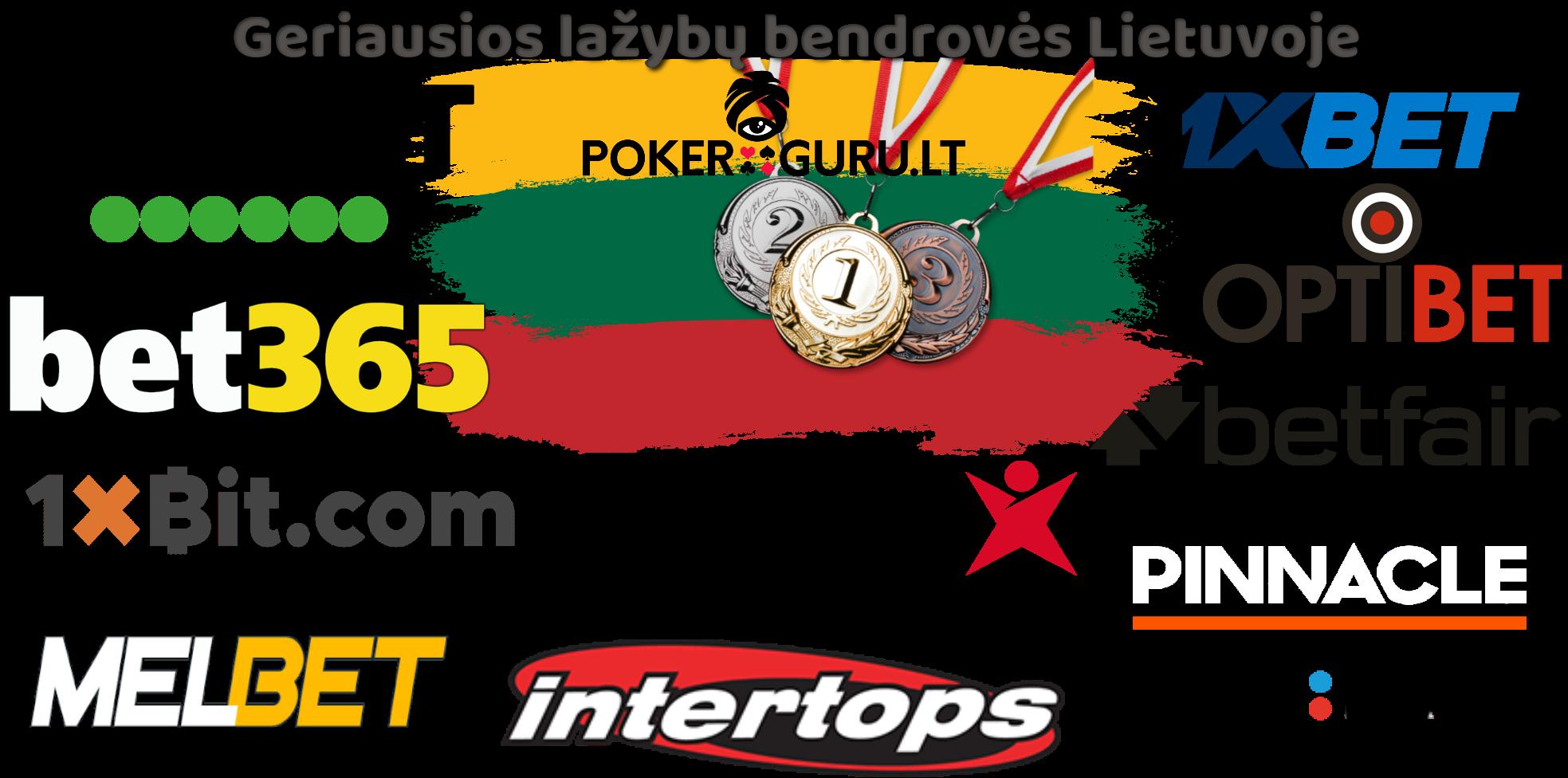 Lietuvos vėliava, Geriausios lažybų bendrovės Lietuvoje internete su logotipais