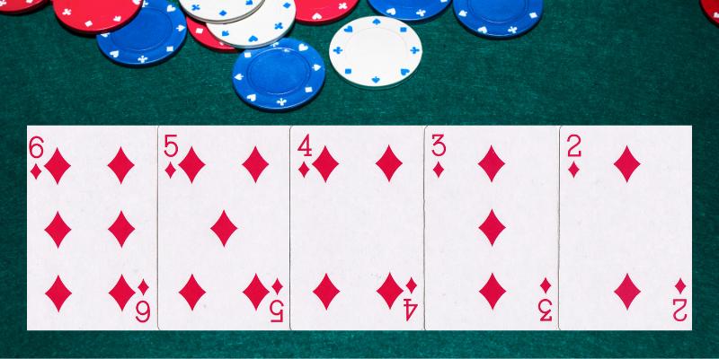 Eilė ir spalva - pokerio kortų kombinacijos