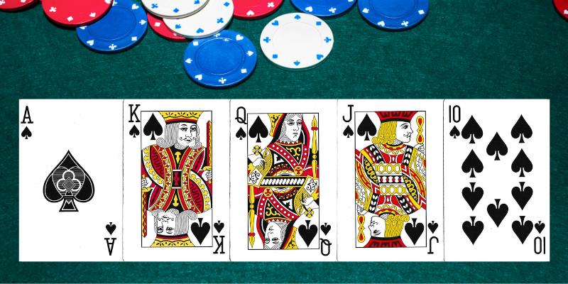 Karališka spalva - pokerio taisyklės kombinacijos