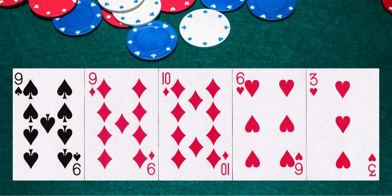 Viena pora - pokerio kombinacijos pagal stiprumą