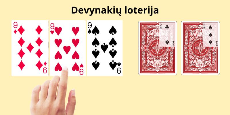 Azartiniai kortų žaidimai - devynakių loterija