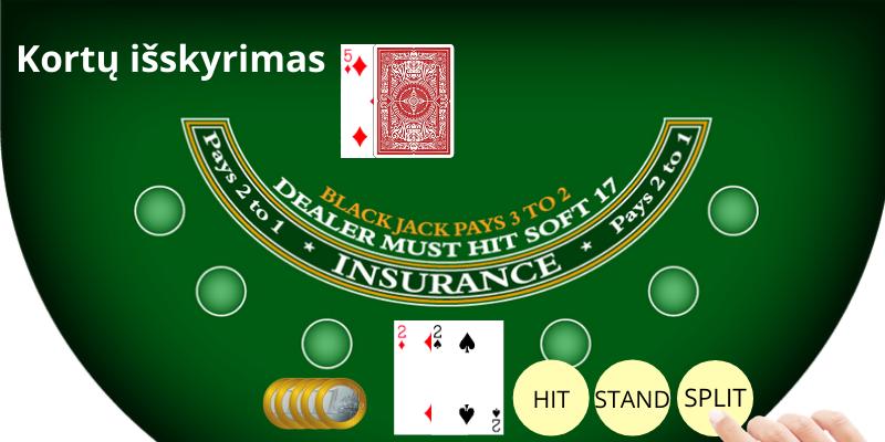 Casino žaidimai internete - akis kortų išskyrimas