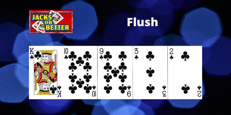 Flush - Jacks or Better Vaizdo pokeris