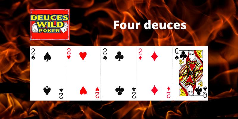 Four deuces - Deuces Wild Video pokeris