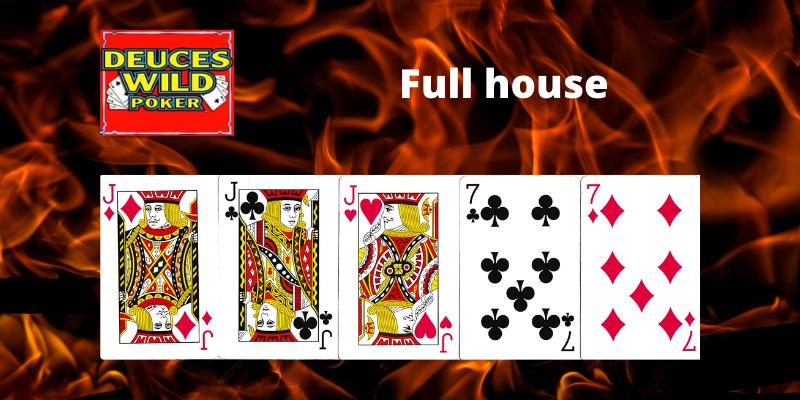 Full house - Deuces Wild Vaizdo pokeris