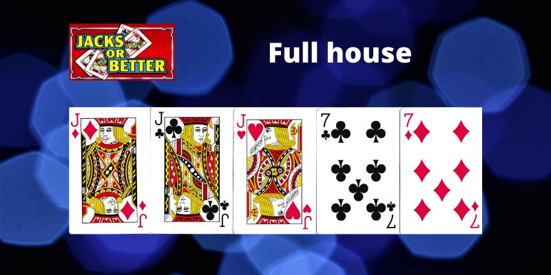 Full house - Jacks or Better Vaizdo pokeris
