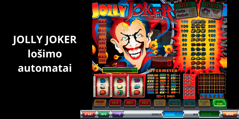 Jolly joker slotai ir demo kazino sukimai