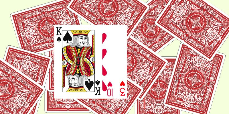 Kiaulė žaidimas kortomis - 2 pavyzdys, kaip žaisti Kiaulę su kortom