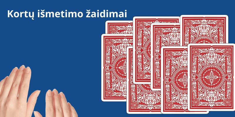Kortų žaidimai su taisyklėmis kai reikia išmesti kortas