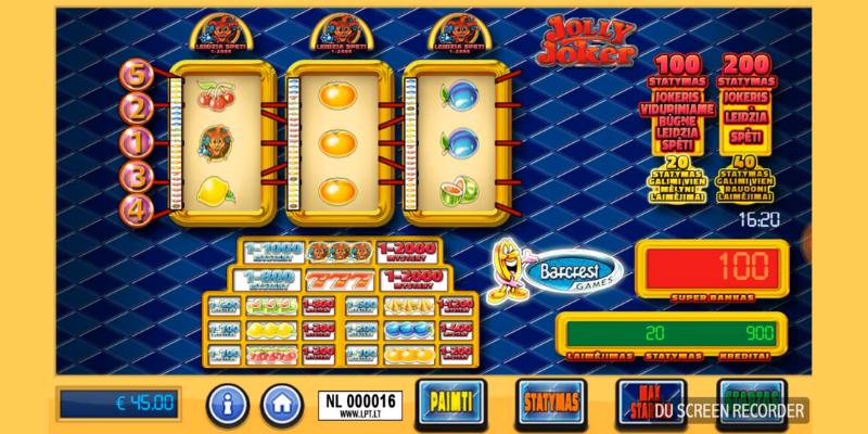 Lošimo automatai Jolly Joker internetu pratęsimas