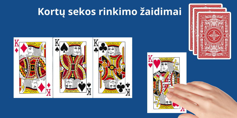 Paprastų žaidimo kortų reikšmės - keturi karaliai