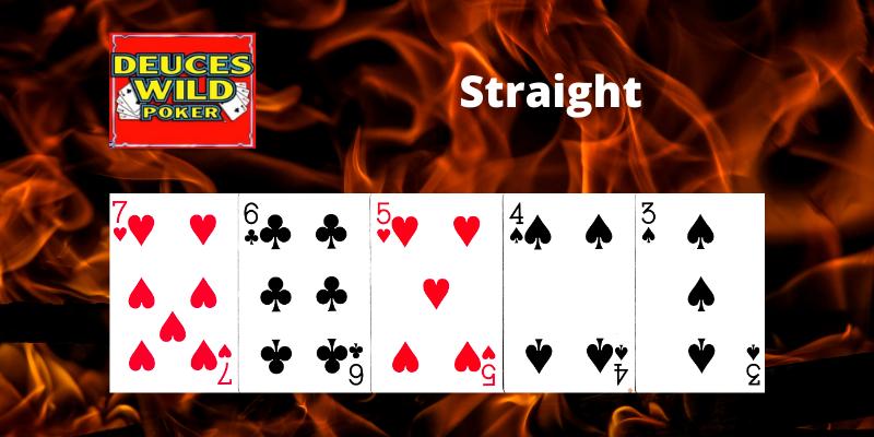 Straight - Deuces Wild Video poker