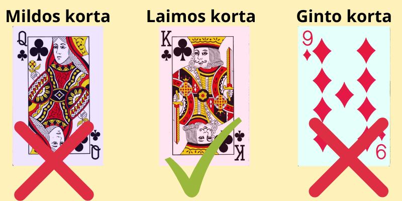 Tūkstantis žaidimas kortomis - 3 pavyzdys