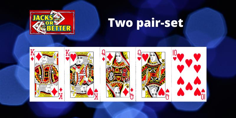 Two pair-set - Jacks or Better Video pokeris