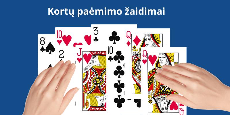 Žaidimas su kortomis kai paimamas visas kortų skaičius kaladėje