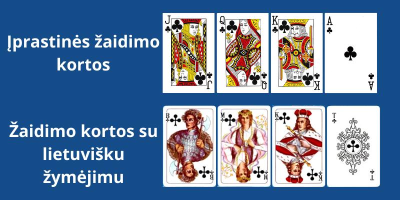 Žaidimo kortų pavadinimai - ponų kortos - kryžius